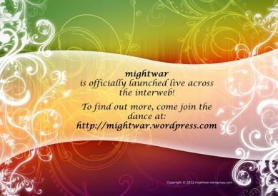 mightwar Facebook launch flyer
