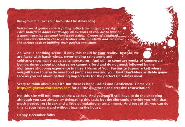 mightwar promotional flyer - 02.12.2012