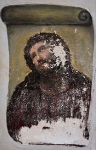 Christ fresco - deteriorated version