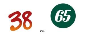 38 vs 65