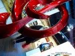 red g-clef artwork