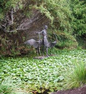 Brisbane Botanical Gardens lilypond sculpture