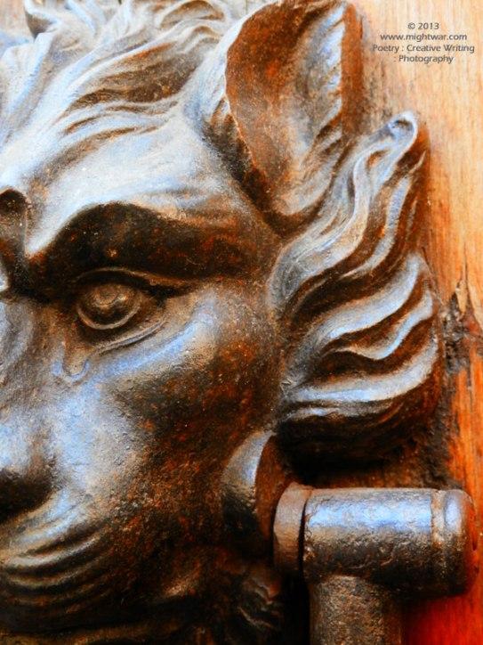 Lion Door Knocker close-up