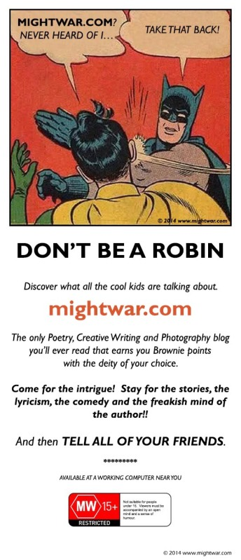mightwar batman promotional flyer